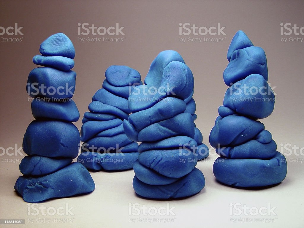 Modeling Clay / Dough stock photo