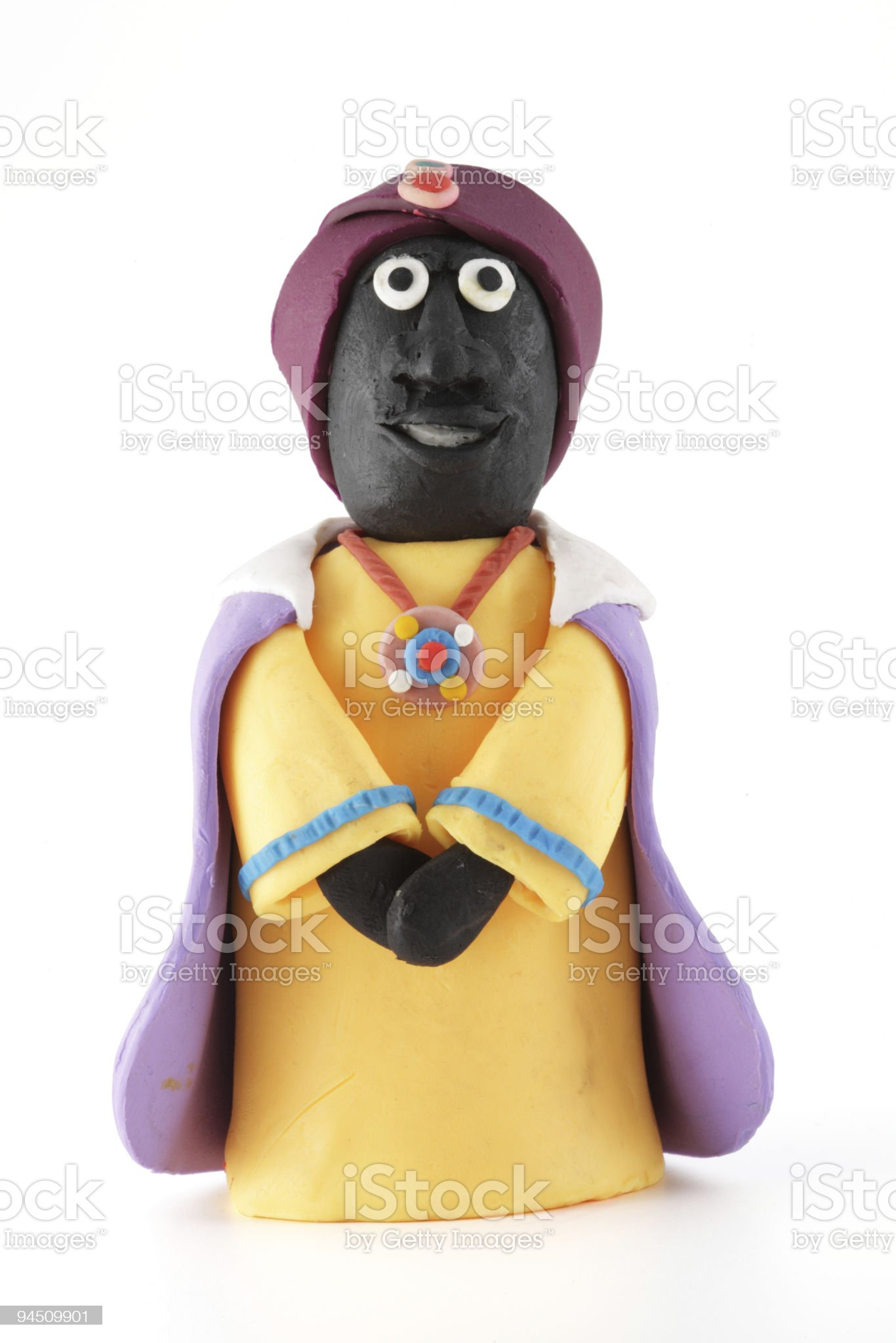 modeling clay figure, king royalty-free stock photo