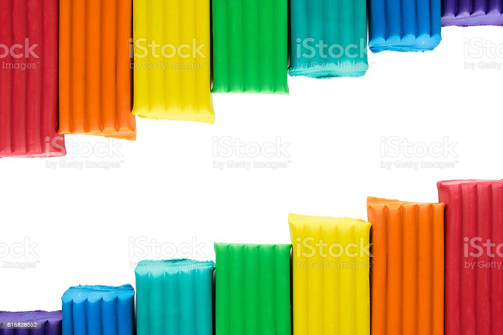 Modeling clay isolated stock photo