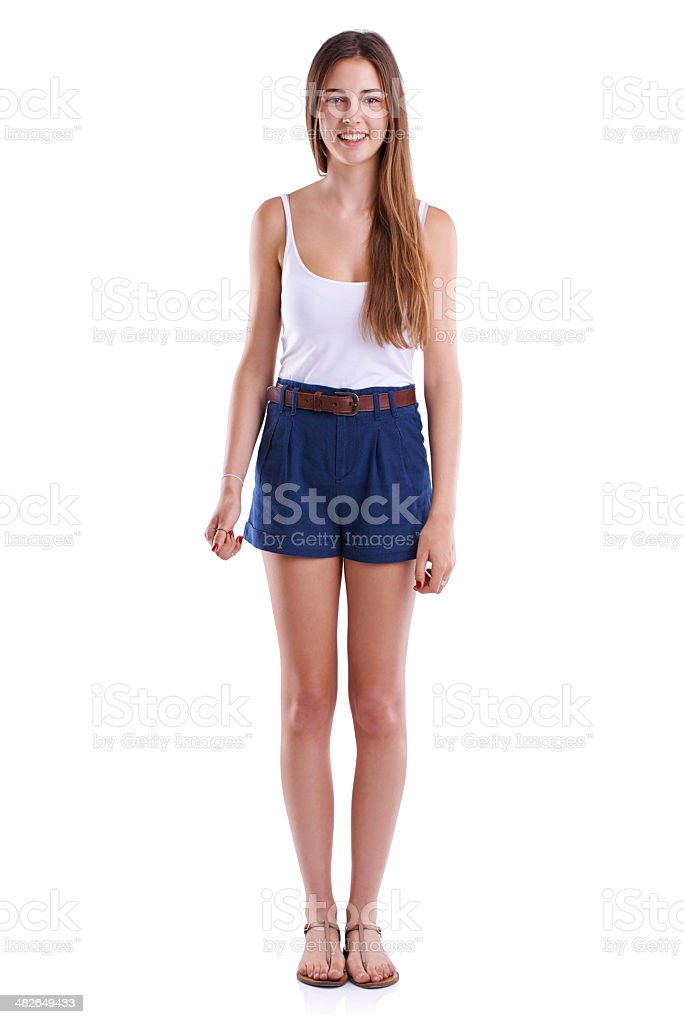 Modeling the latest summer fashions stock photo