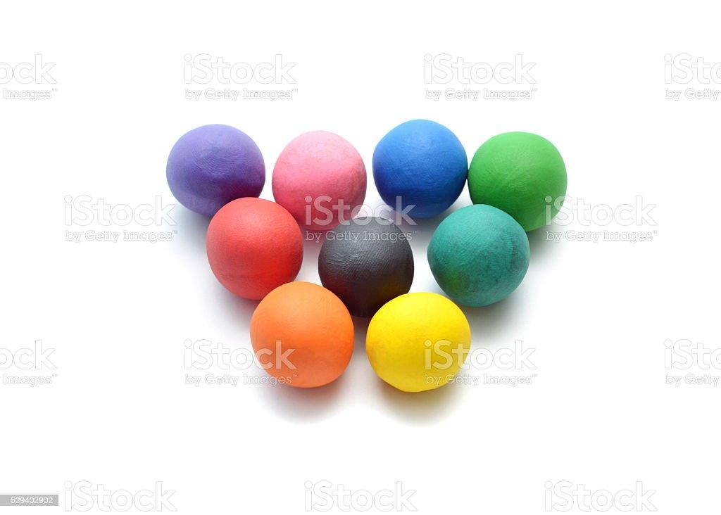 Modelling Clay Balls stock photo