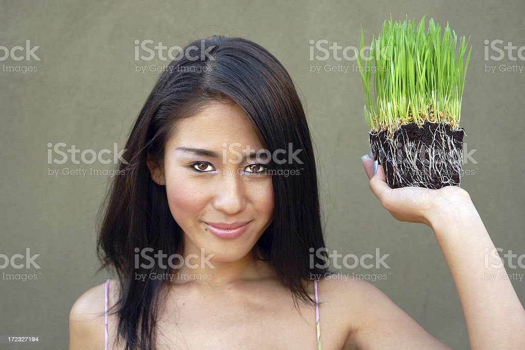Modelling Grass royalty-free stock photo