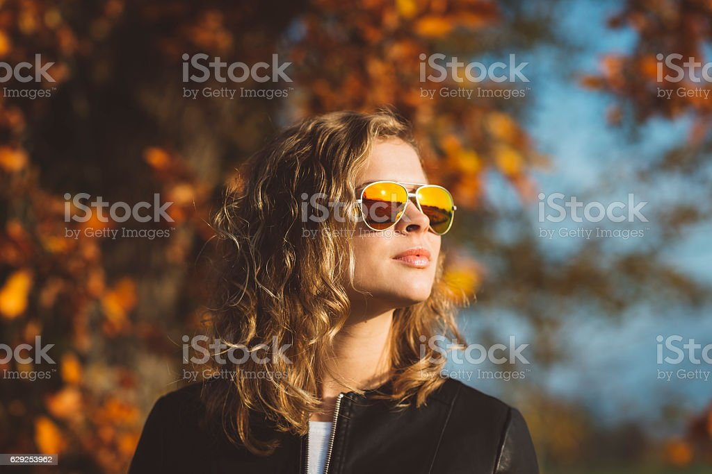 Modelling in Nature stock photo