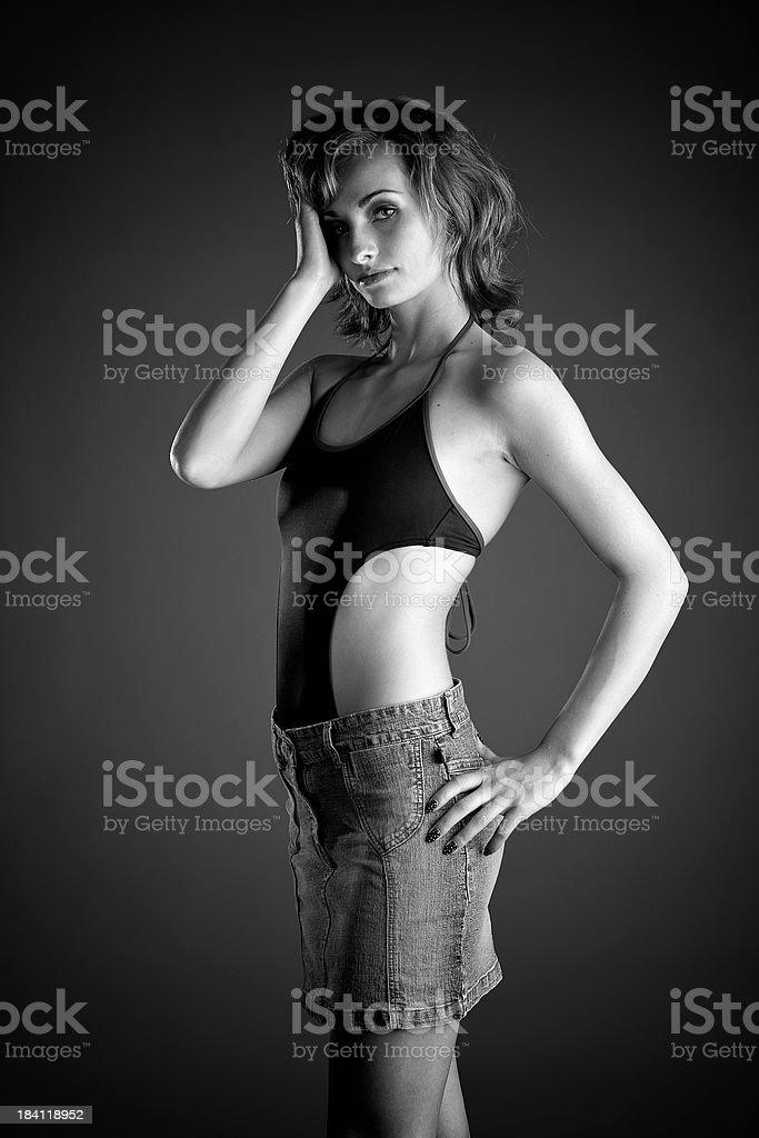 Modelling Rosalie royalty-free stock photo