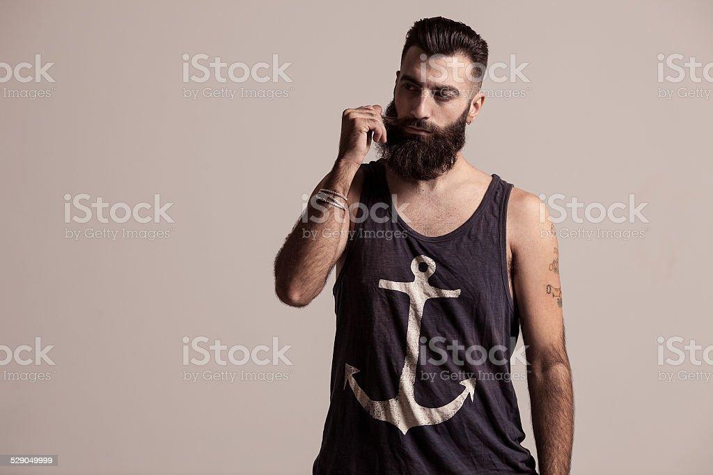 modelo marinero stock photo