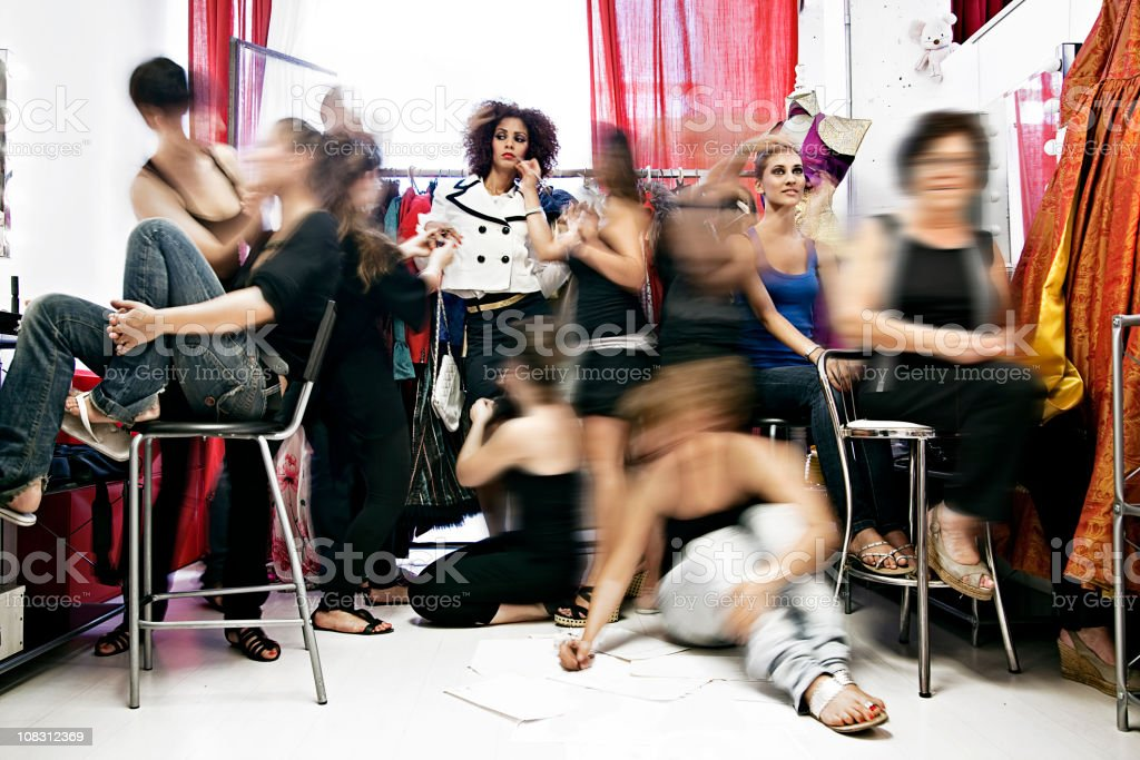 Models Changing stock photo
