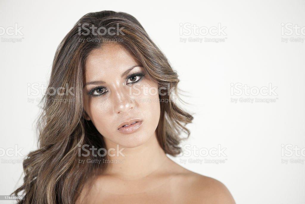 Model's Face royalty-free stock photo