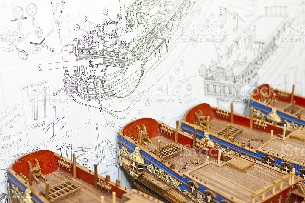 Models of Ships stock photo