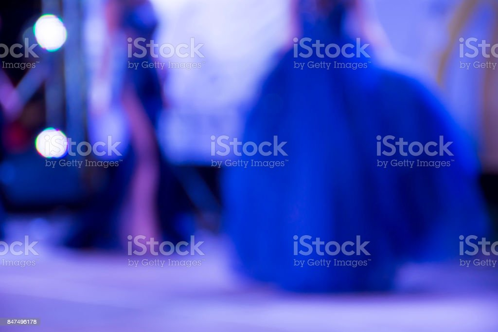 Models on stage stock photo