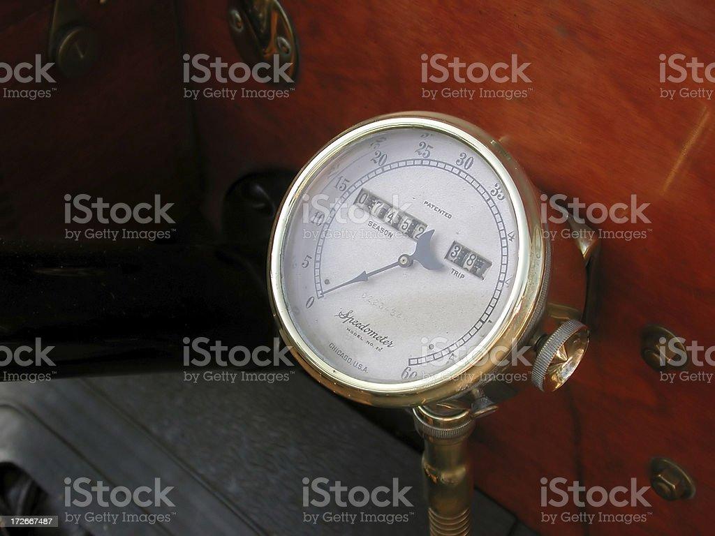 Model-T Speedometer stock photo