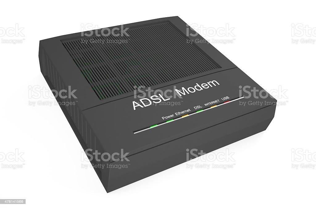 DSL modem 2 stock photo