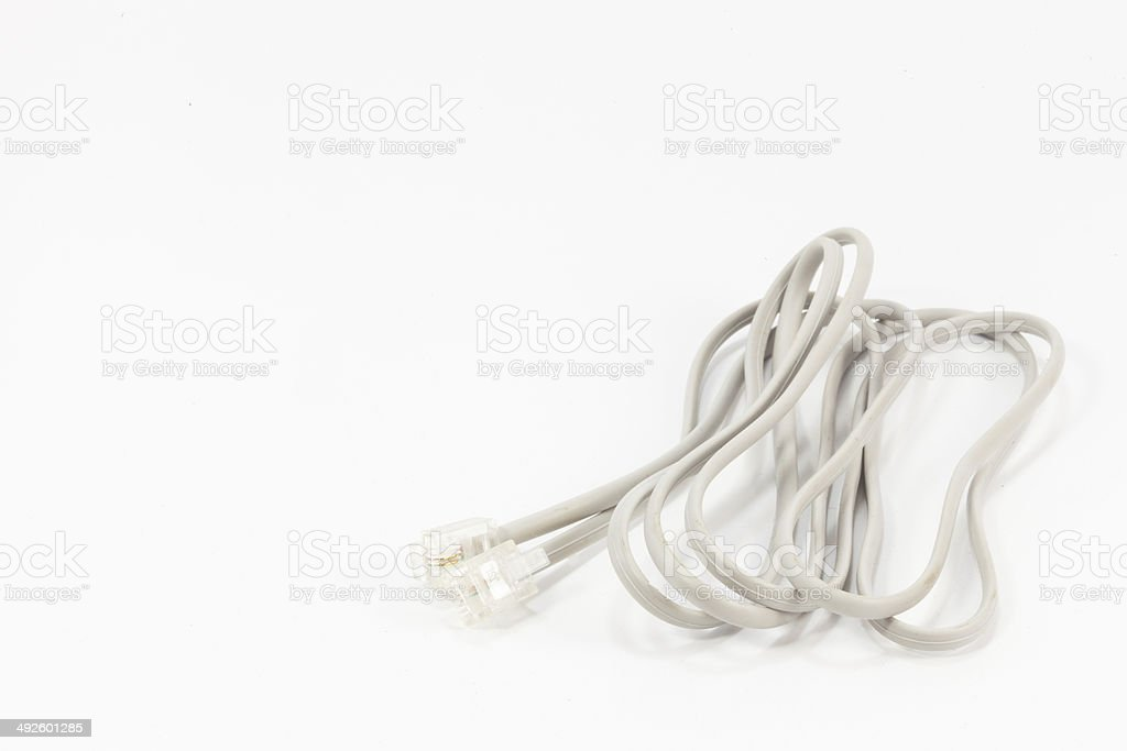 Modem Cable isolated on White background. stock photo