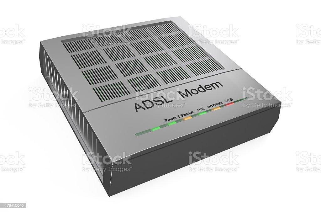 DSL modem stock photo