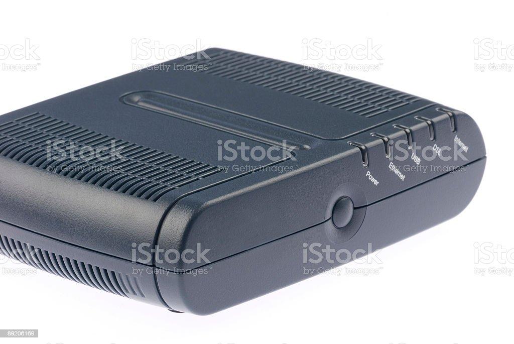 ADSL modem royalty-free stock photo
