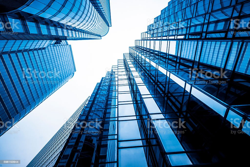 moden glass building stock photo