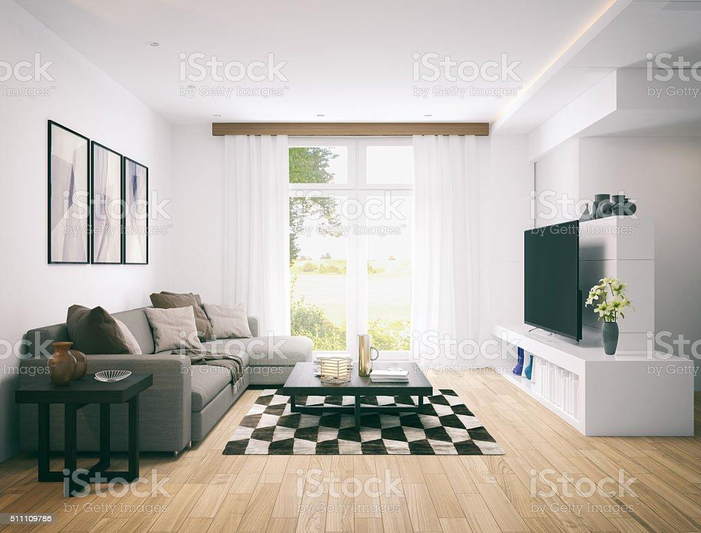 Moden living room. stock photo