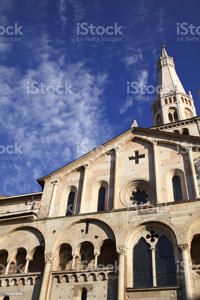 Modena, Cathedral and the Ghirlandina bell-tower stock photo