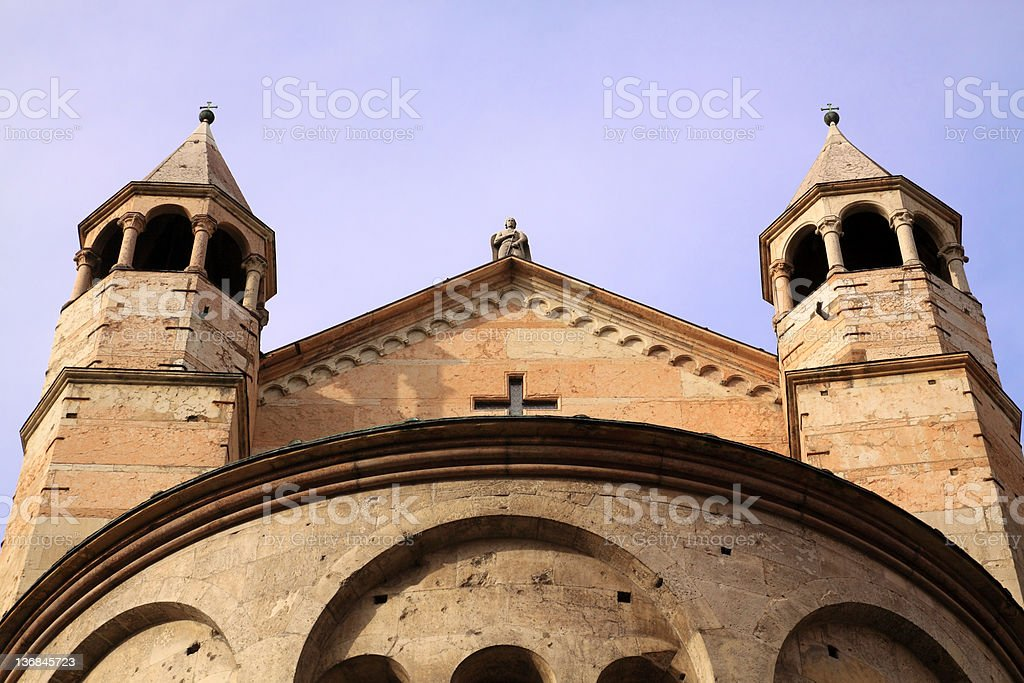 Modena, Cathedral: detail of the apse royalty-free stock photo