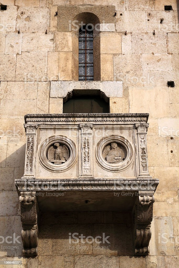 Modena, Cathedral: detail royalty-free stock photo