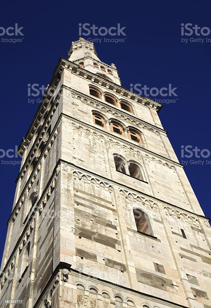 Modena, Cathedral: the Ghirlandina bell-tower stock photo