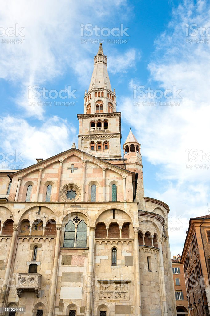 Modena Cathedral Torre Civica, Emilia-Romagna Italy stock photo