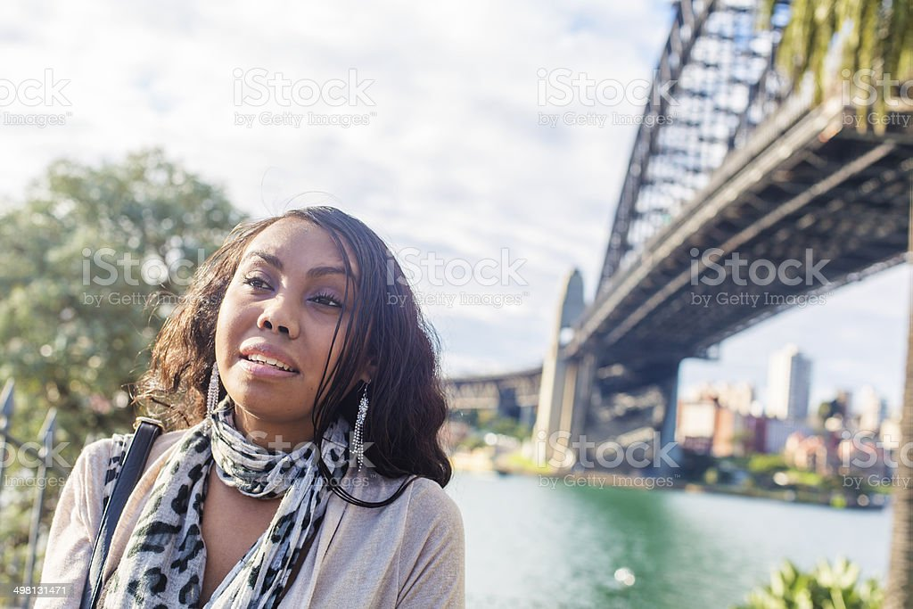 Modern Aboriginal Woman stock photo