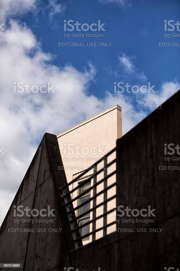 Modern abstract architecture stock photo