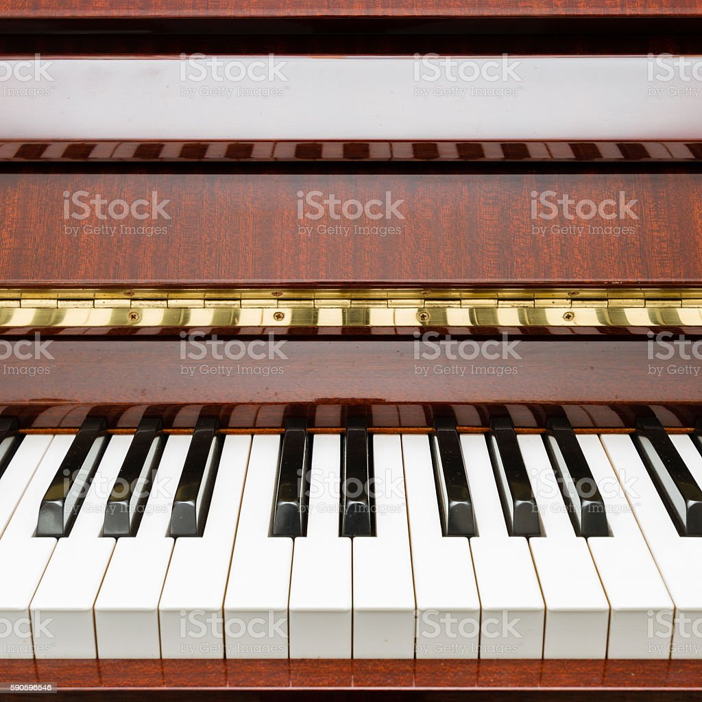 Modern acoustic piano stock photo