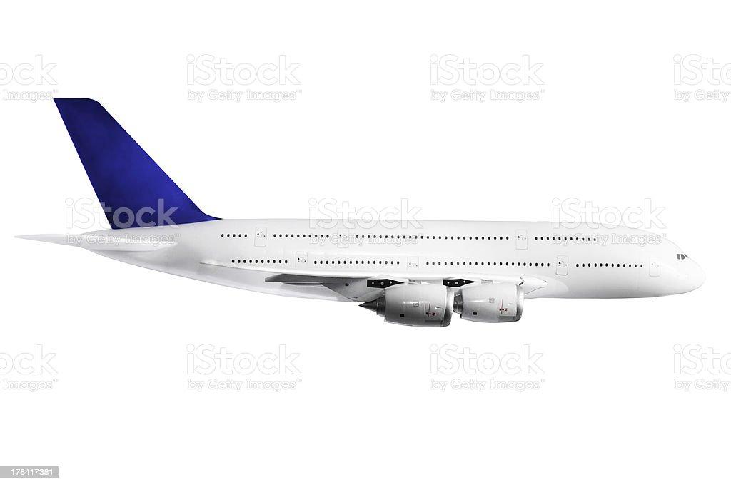 Modern airplane  on white. stock photo