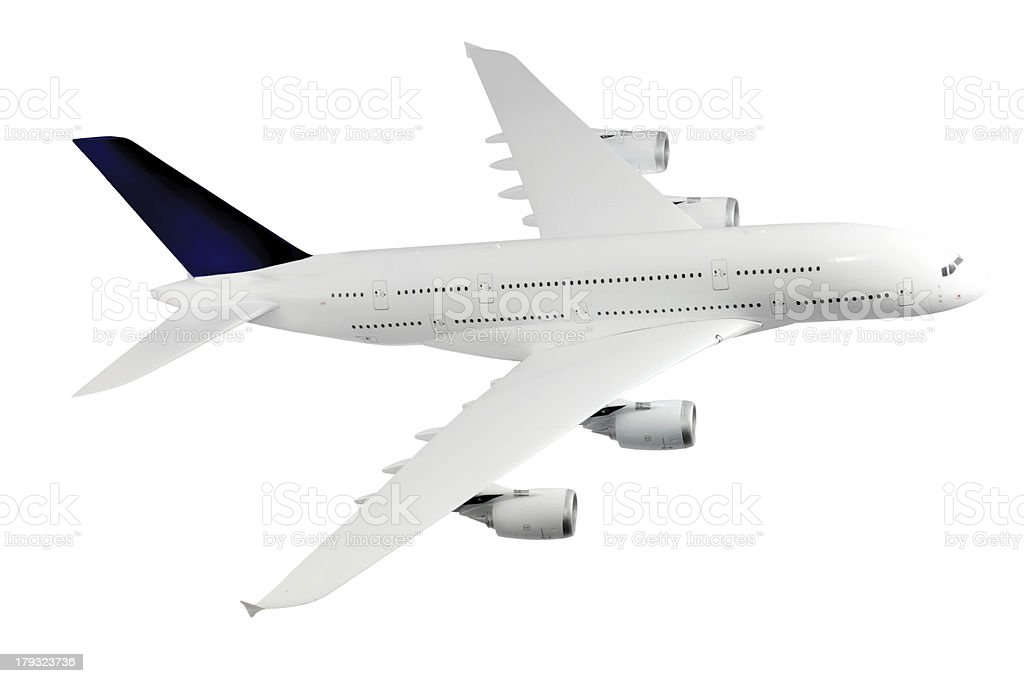 Modern airplane  on white. royalty-free stock photo