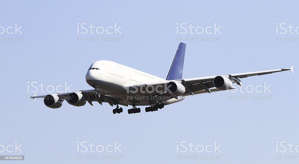 Modern airplane stock photo