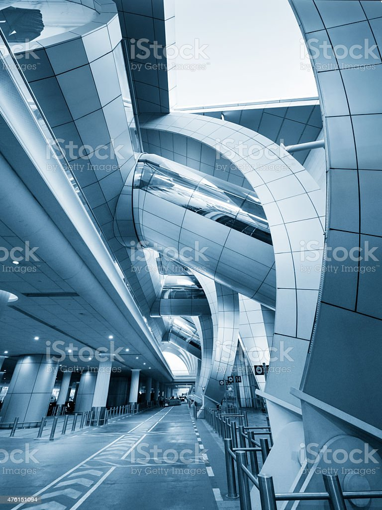 Modern Airport Architecture stock photo