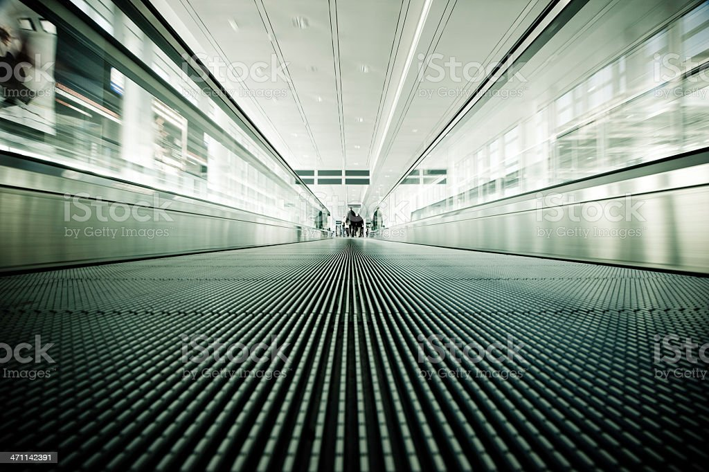 Modern Airport Travellers royalty-free stock photo
