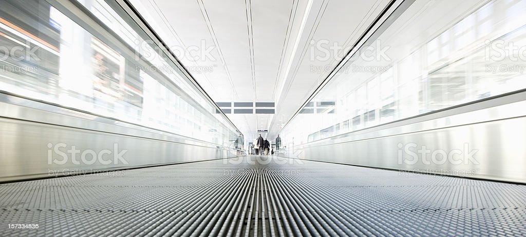 Modern Airport Walkway, Moving Stairway II royalty-free stock photo