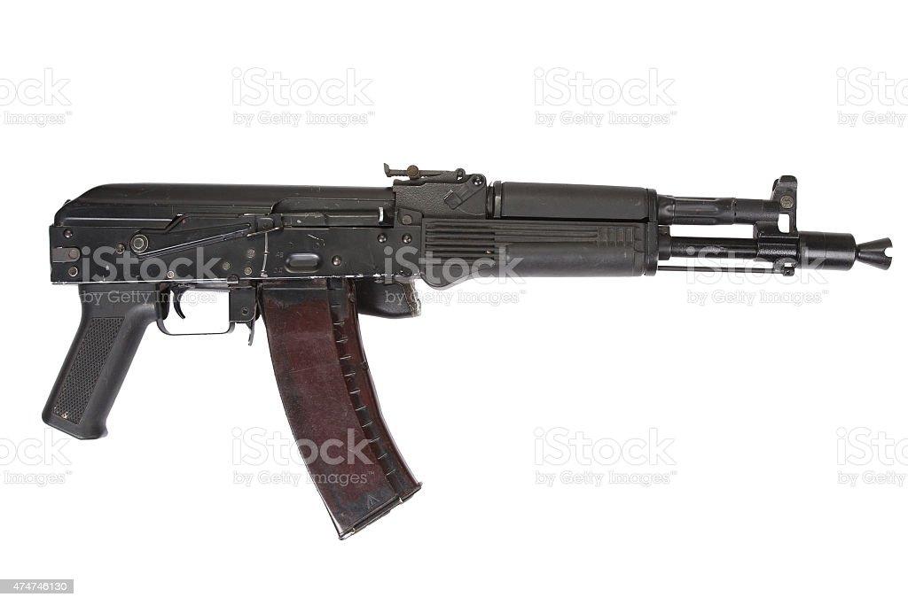 modern AK assault rifle stock photo