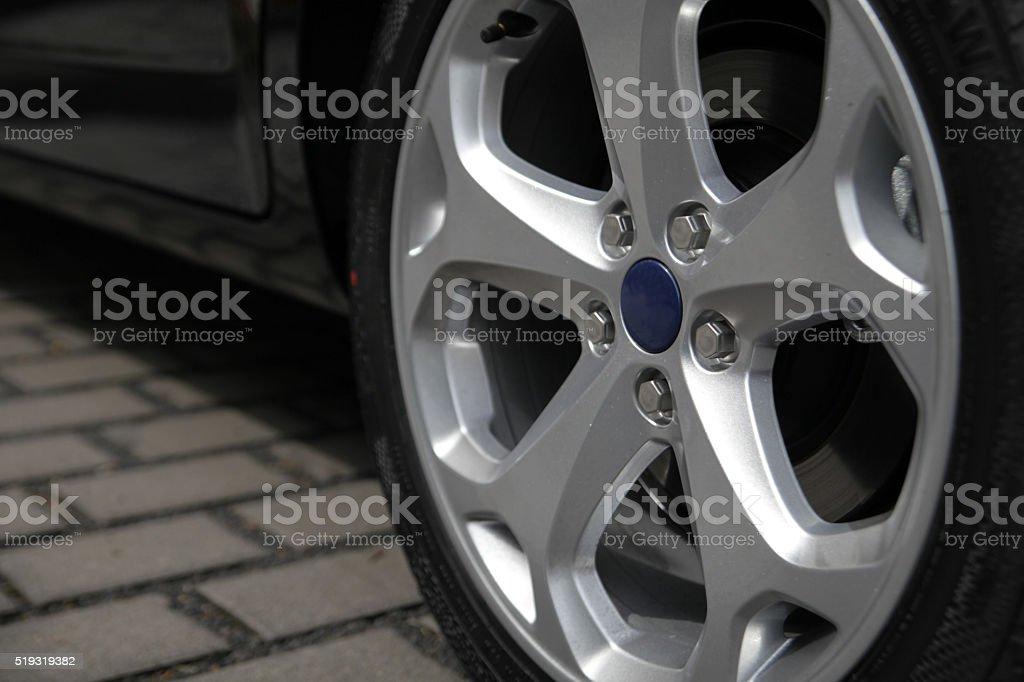 Modern alloy wheel stock photo