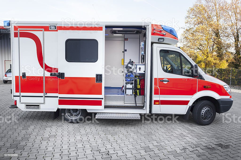 Modern ambulance royalty-free stock photo