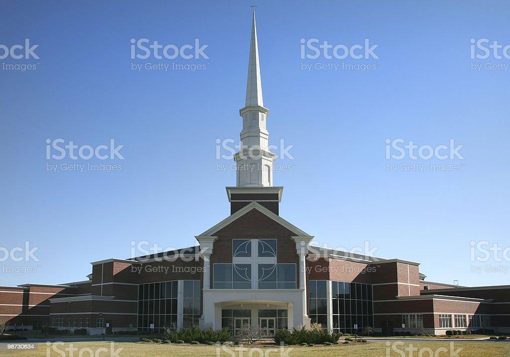 Modern American Church royalty-free stock photo