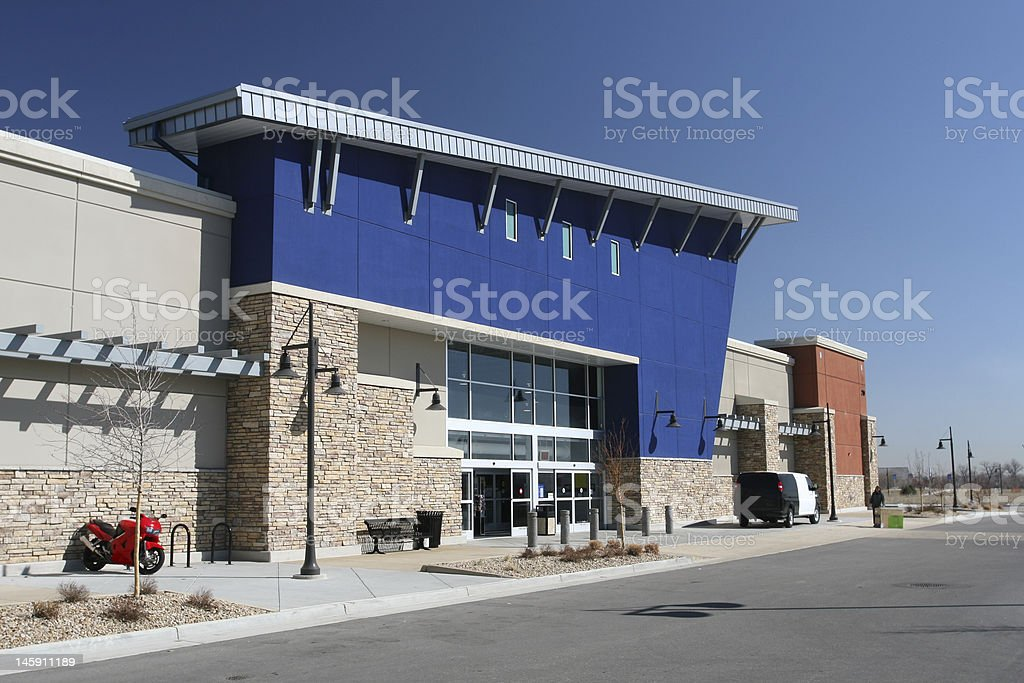 Modern American Strip Center stock photo