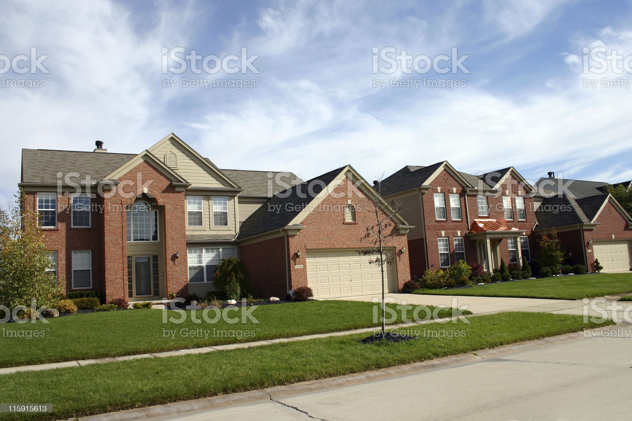 Modern American Subdivision royalty-free stock photo
