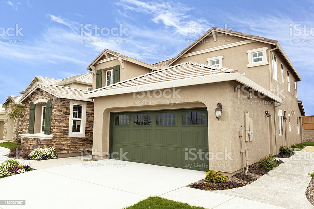 Modern American Suburb Houses stock photo