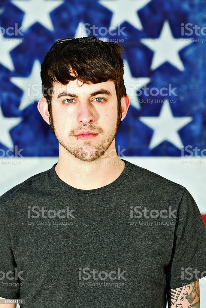 Modern American Young Man royalty-free stock photo