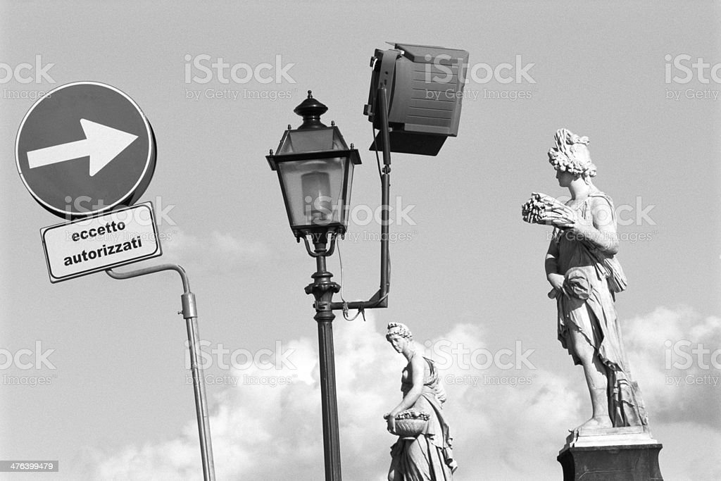 Modern and ancient mix in Florence royalty-free stock photo
