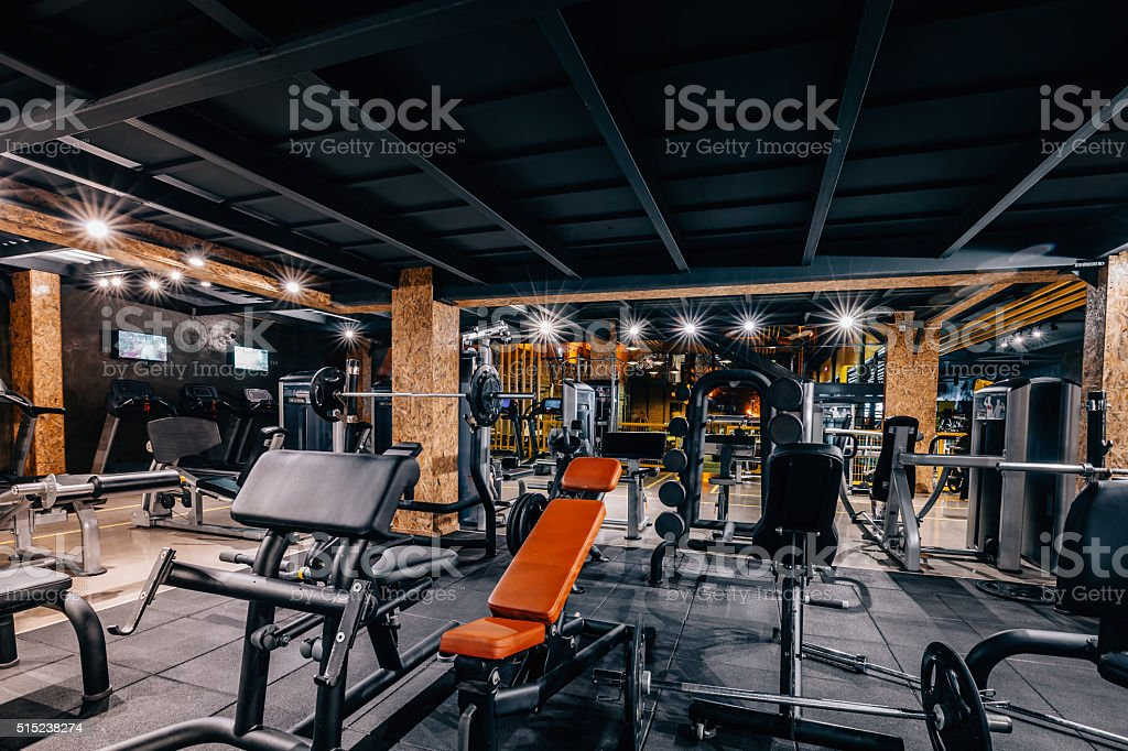 Modern and Big Gym stock photo