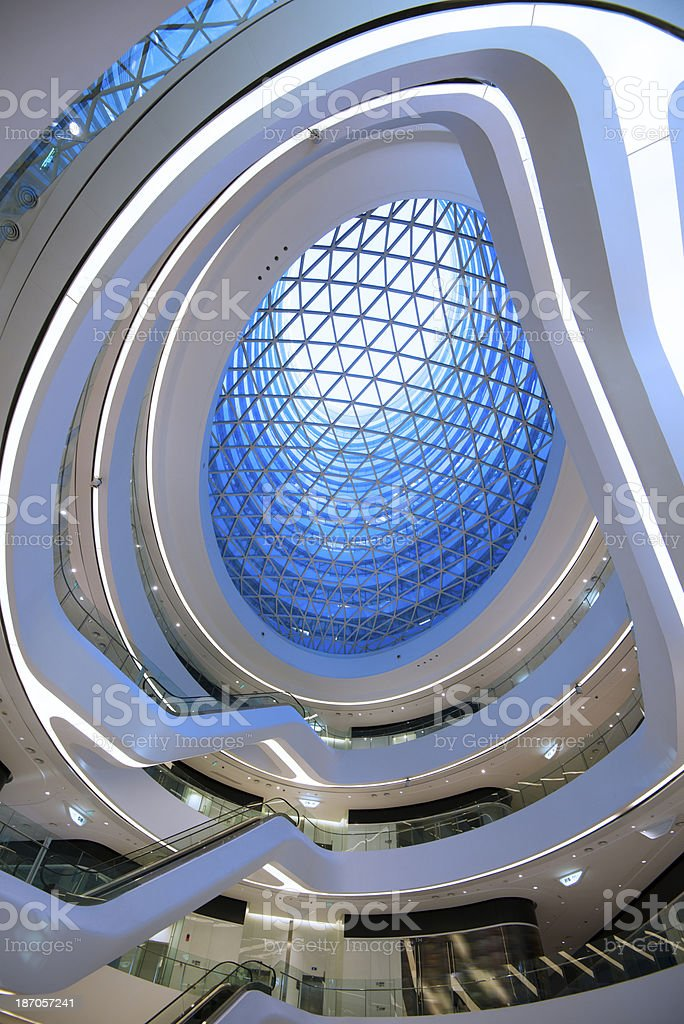 modern and clean shopping mall royalty-free stock photo