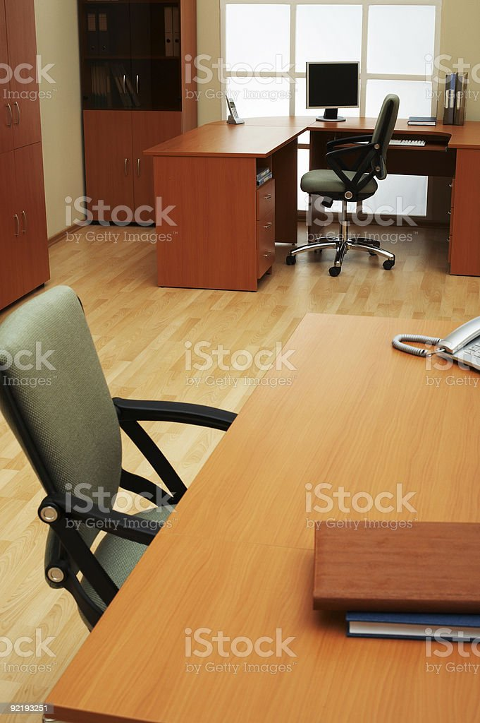 modern and light office royalty-free stock photo
