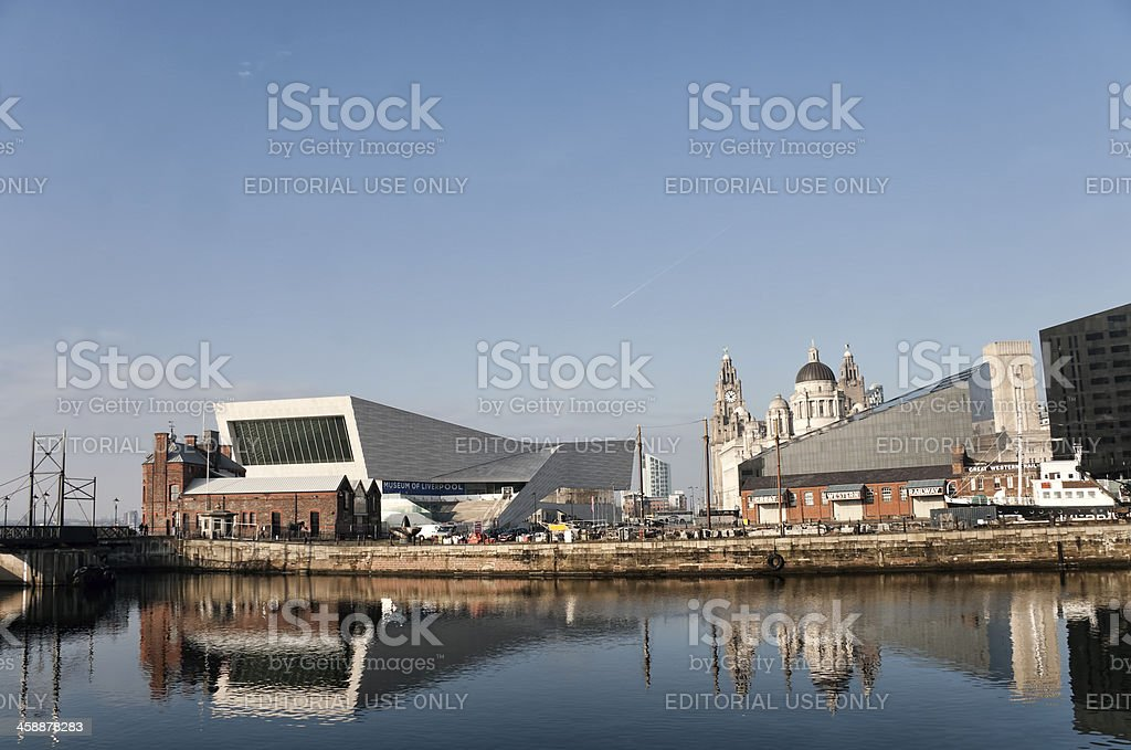 Modern and old architecture Liverpool uk. royalty-free stock photo