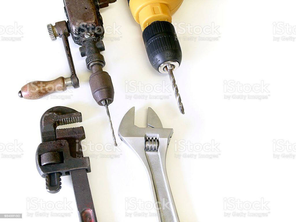Modern and Old Tools stock photo