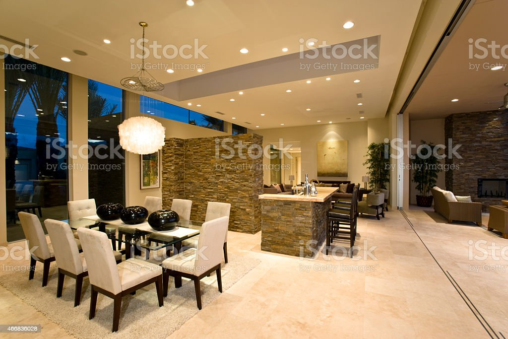 Modern And Spacious House Interior stock photo