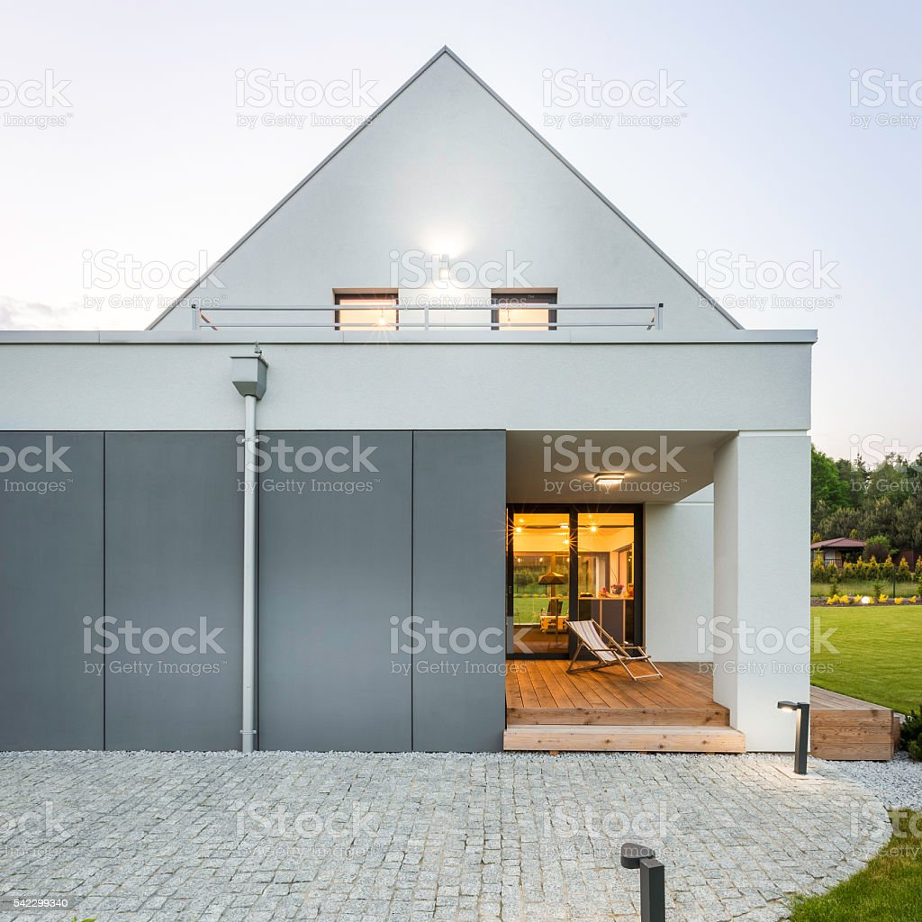 Modern and stylish home stock photo